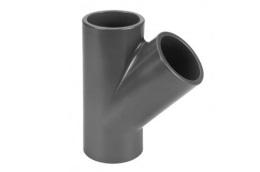 PVC T-stuk 45°