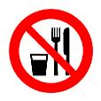 Verboden om te eten en drinken