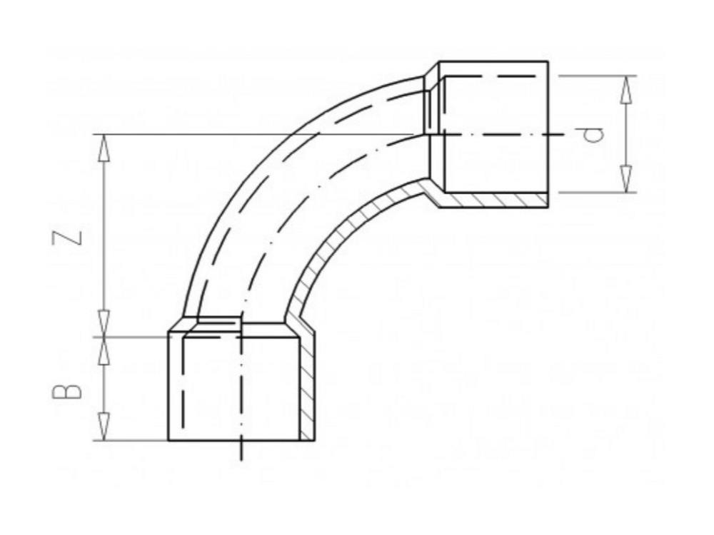 Bocht Ø20 x 20mm 90