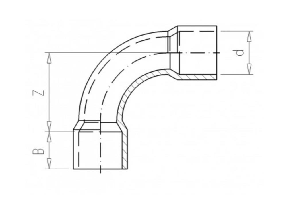 Bocht Ø40 x 40mm 90