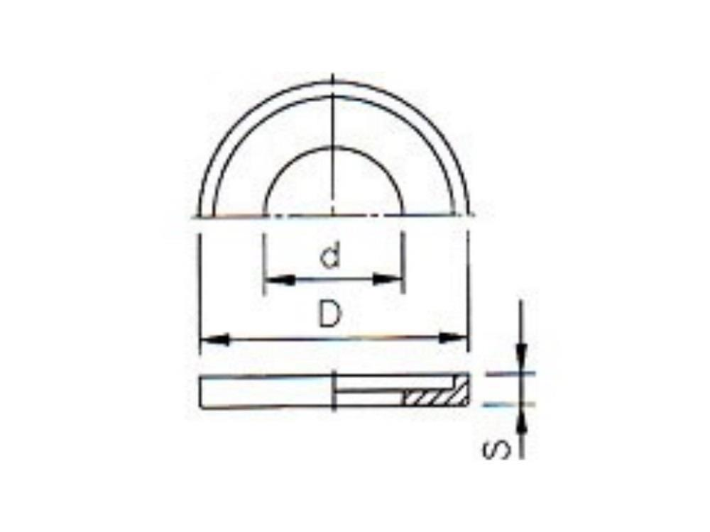 Smoorplaatje Øgat 15,5mm Ø27mm buiten