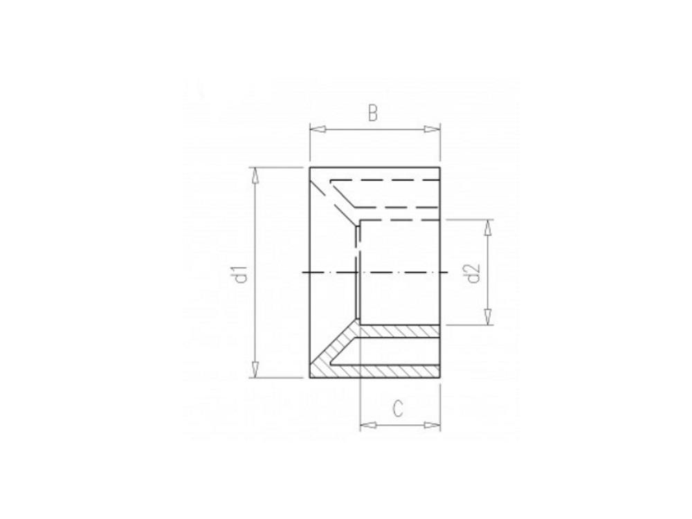 Lijmring 110 x 63mm pvc 16bar