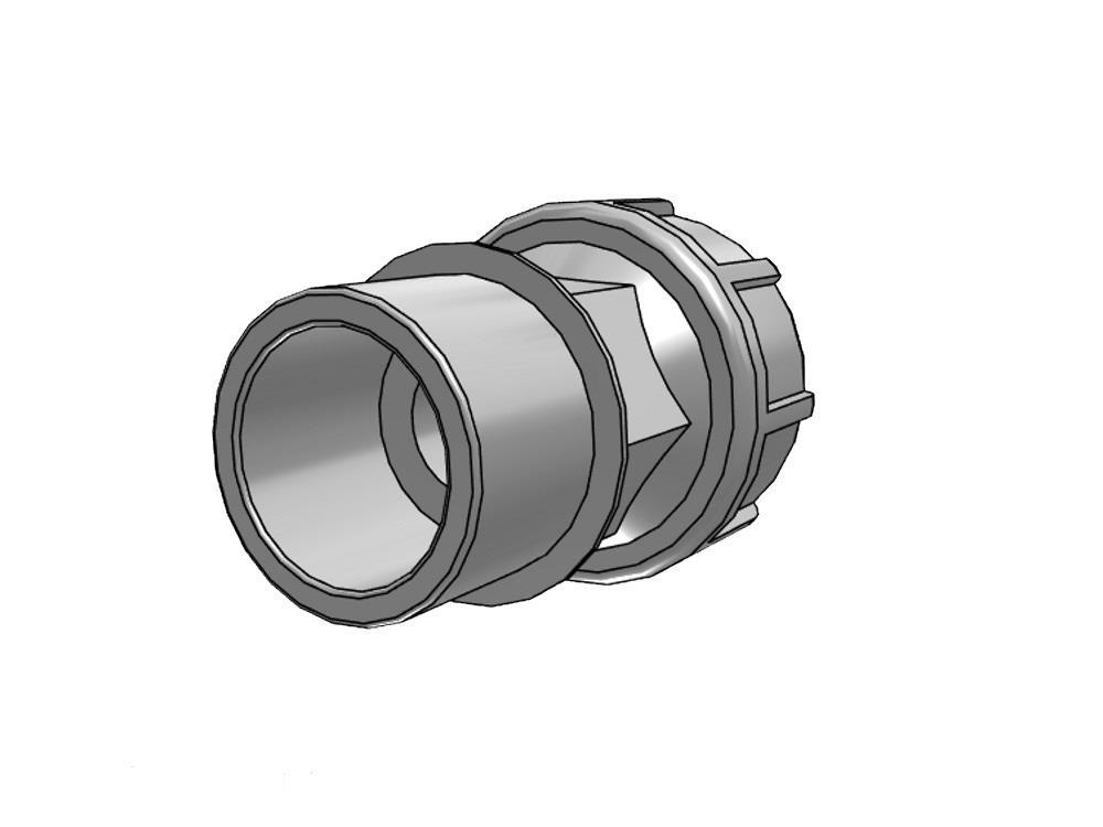 Koppeling 25mm PE x 25/32mm PVC