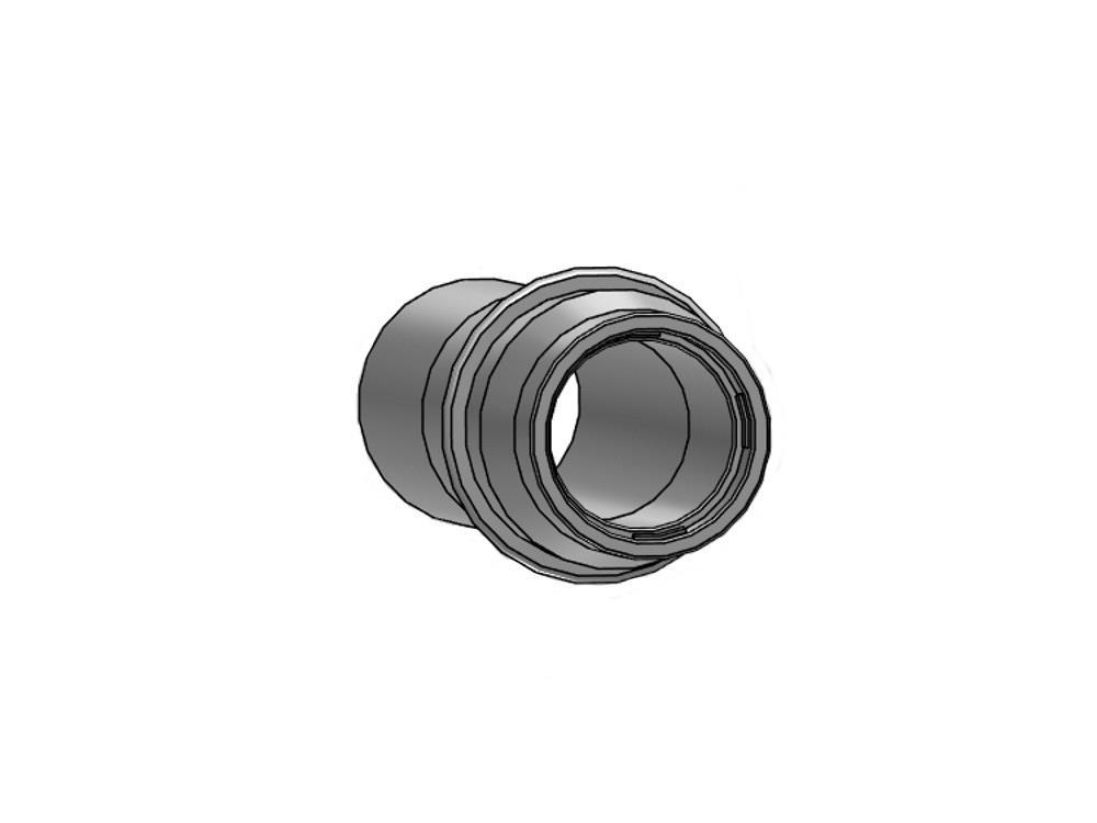 Gietdarmpijpje + ring 40mm pvc