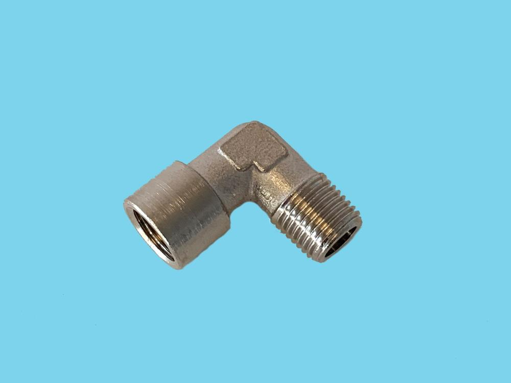 "Am-SAF-ond  L-connector ¼""Mx¼""F T6"