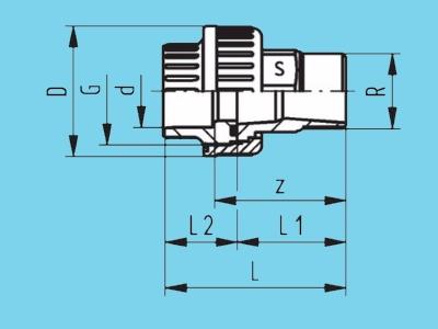 3/3 Koppeling pvc Ø 75mm x 2 1/2