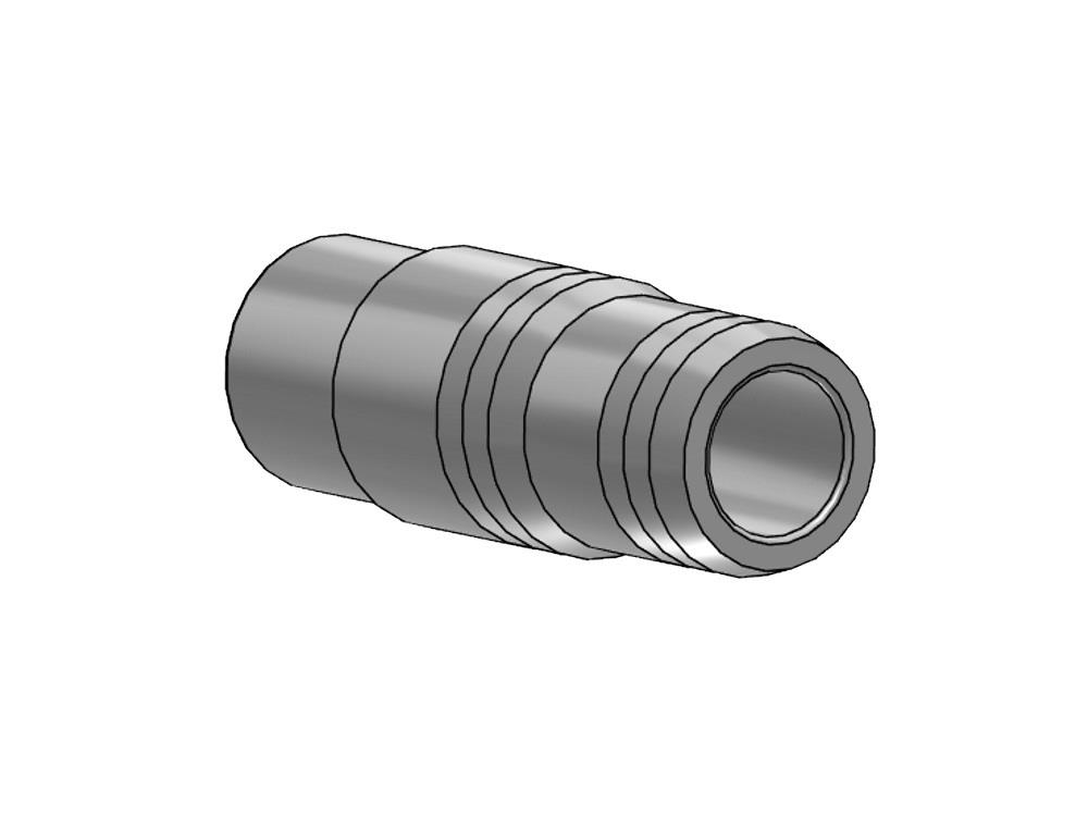 Slangpilaar Ø32 x 34/31 mm pvc