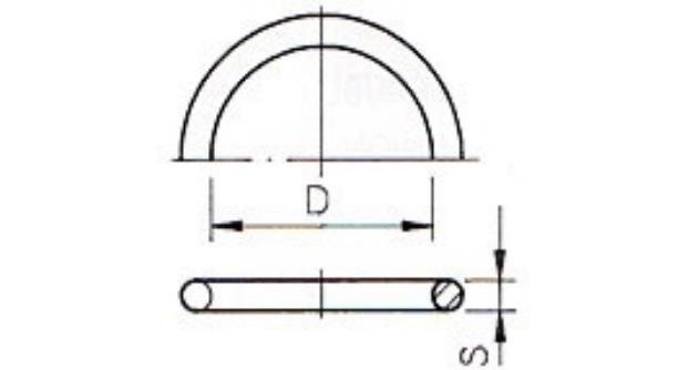 O-ring 78,74x5,33 mm EPDM tbv kopp 75mm kort model