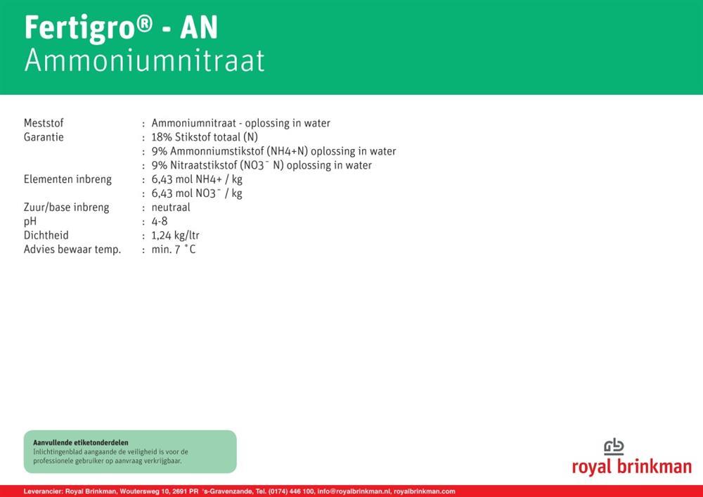 Fertigro AN box 968 ltr/1200 kg