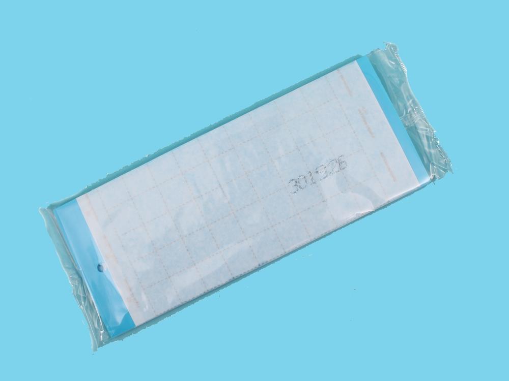 Signaalplaat blauw (10x25cm)