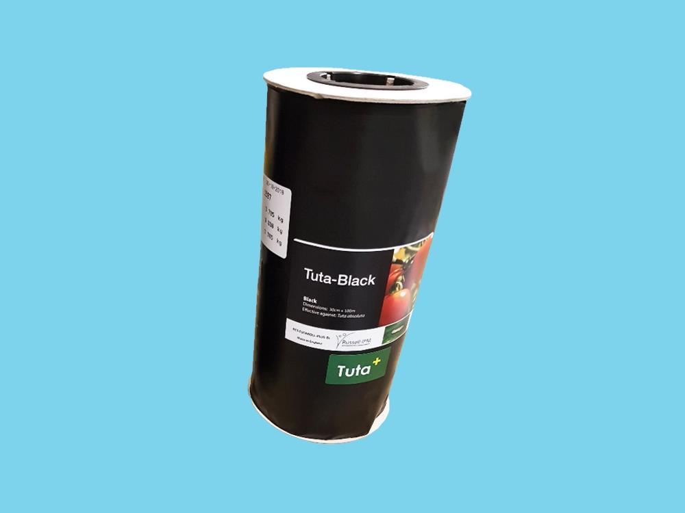 Signaalrol zwart 100m x 15cm (Tuta Black)