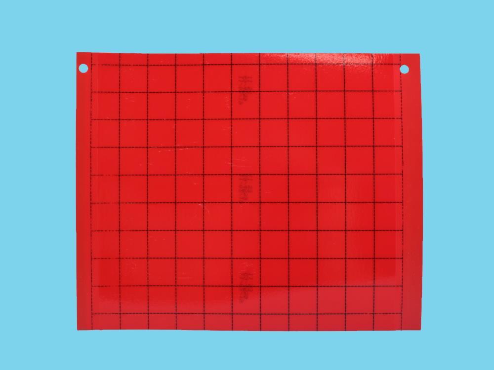 Signaalplaat rood [20x25cm] 500 doos