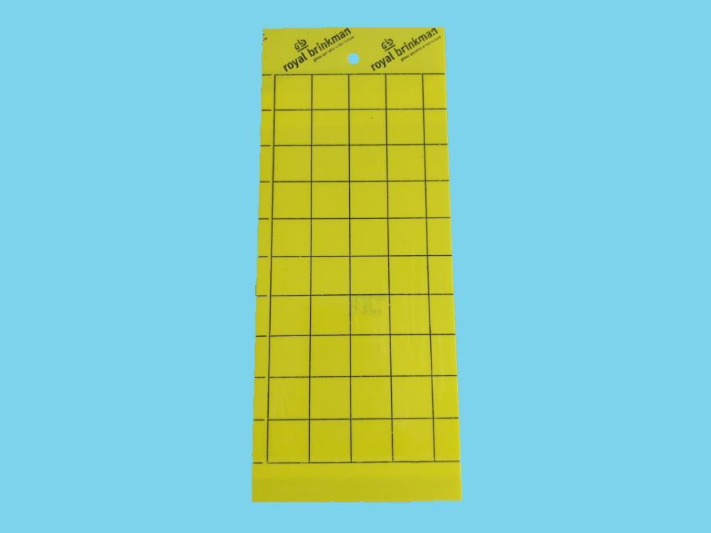 Signaalplaat geel (10x25cm) 10 stuks