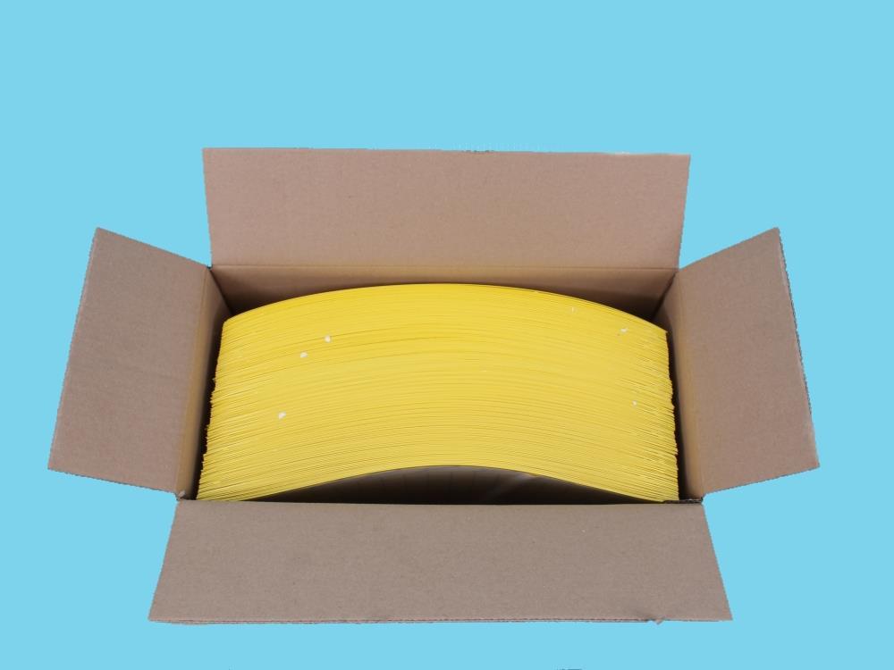 Signaalplaat geel [40x25cm] 250 doos