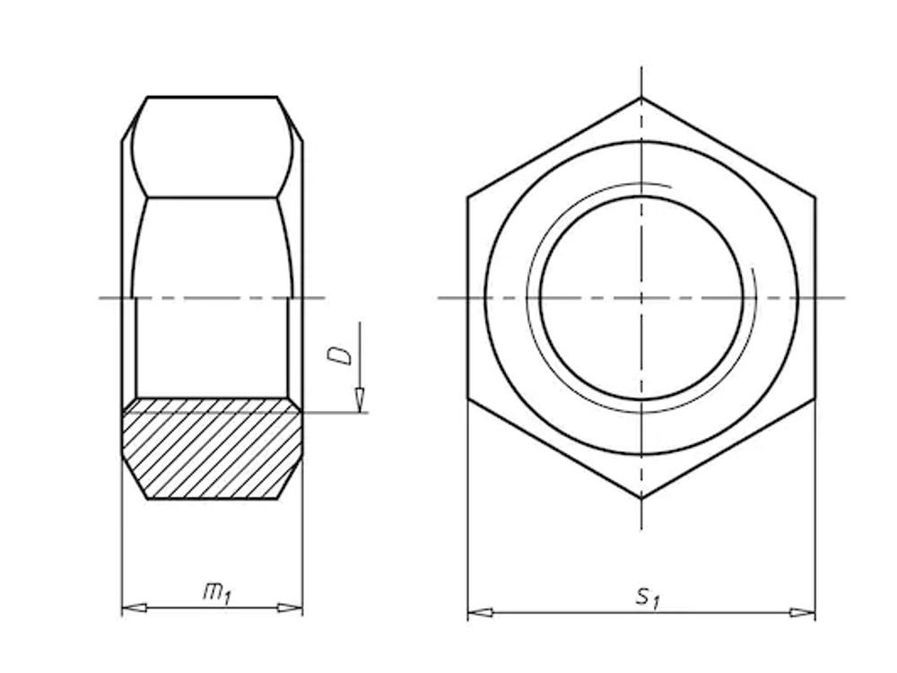 Elektrisch gegalvaniseerd 6 kant moer m20