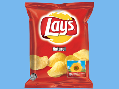 Lay's chips naturel 8 x 175 gr.
