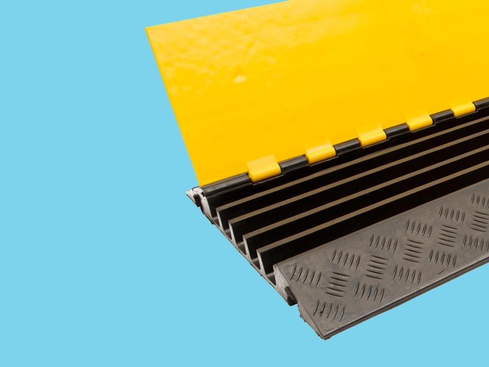Kabelbrug 5 kanaals 905x505x55mm zwart/geel