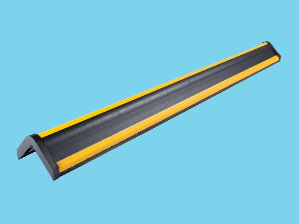 RVS Hoekbeschermer 1000x100x20mm zwart/geel
