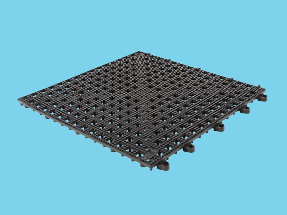 Kliktegel open structuur Zwart