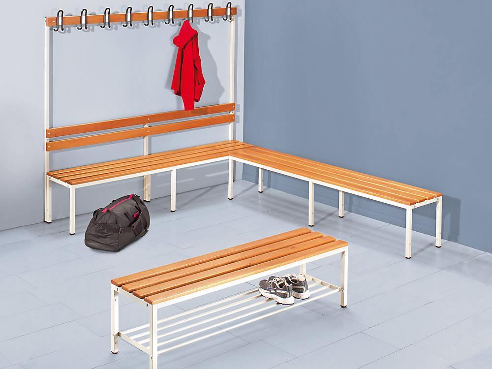 Garderobebank 1700 x 430 x 2000 mm (hxdxl)