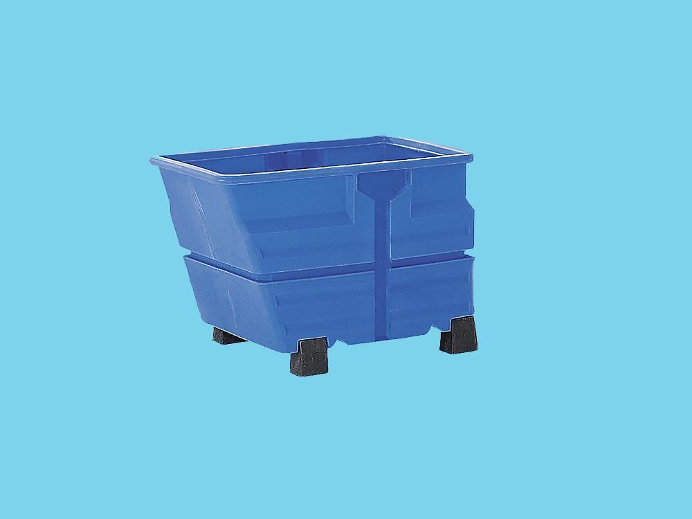 Kiepbak PE 0,8m³ blauw