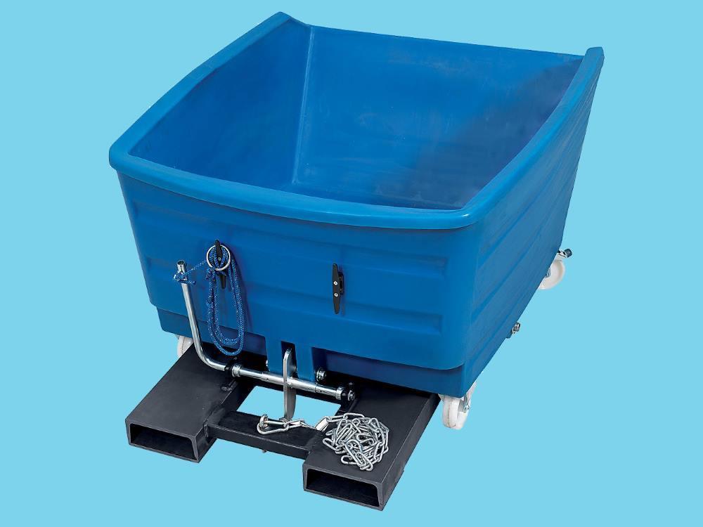 Kiepbak PE 0,75m³ blauw