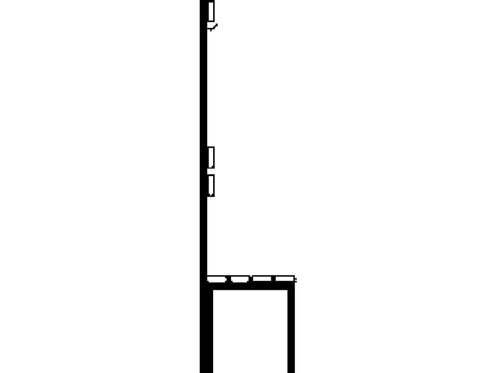 Garderobebank lengte 1000mm beukenhout leuning