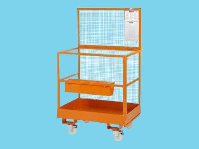 Werkkooi zonder zwenkwielen 1200 x 800 mm