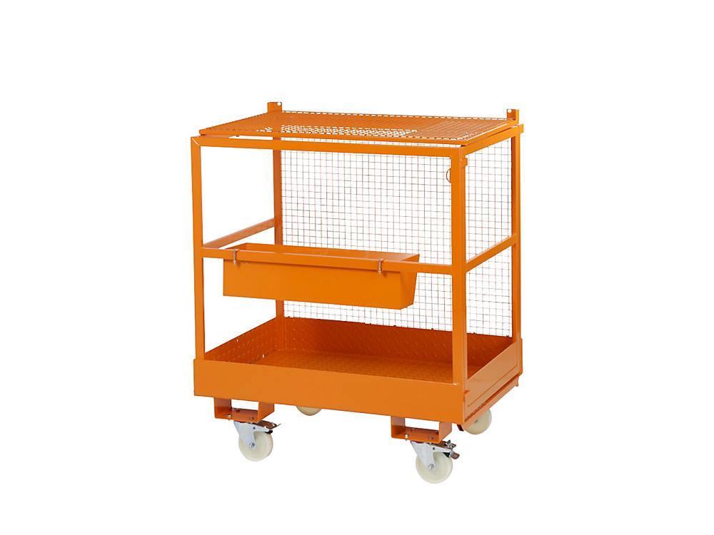 Werkkooi met zwenkwielen 1200 x 800 mm