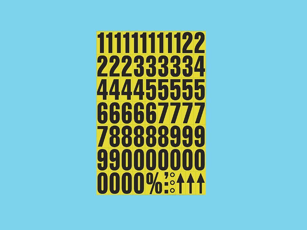 Magnetische letters op A4 zwart-geel 2 stuks