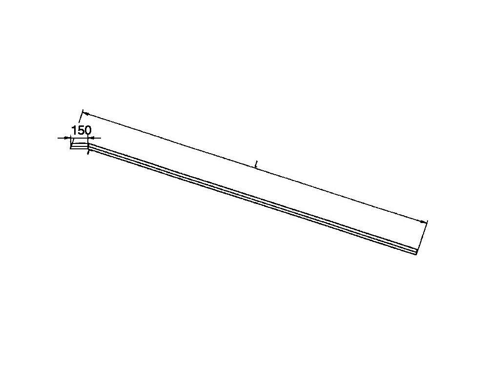 Aluminium laadrail draagvermogen: 350 kg