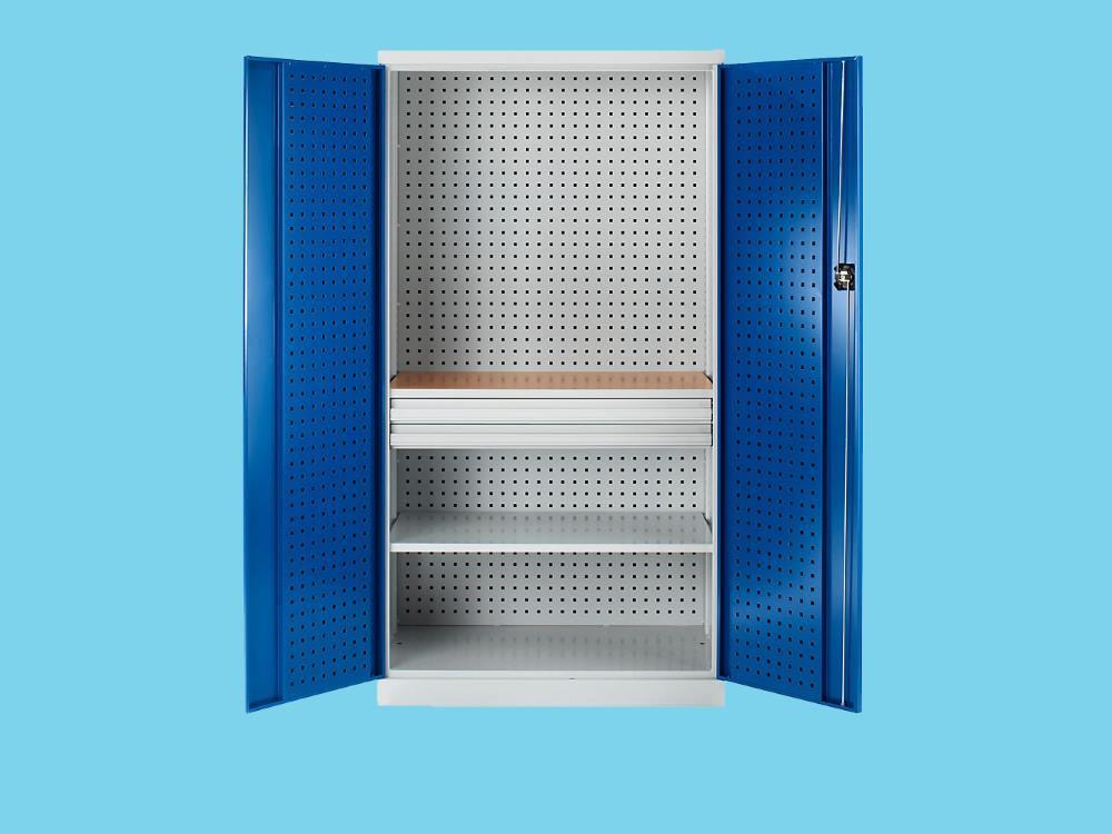 Gereedschapskast 3laags met werkbank 190x100x60 cm