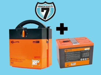 B40 batterij-apparaat (9V/12V) met gratis batterij