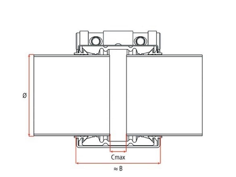 UNI-Plastgrip S 90mm PN16