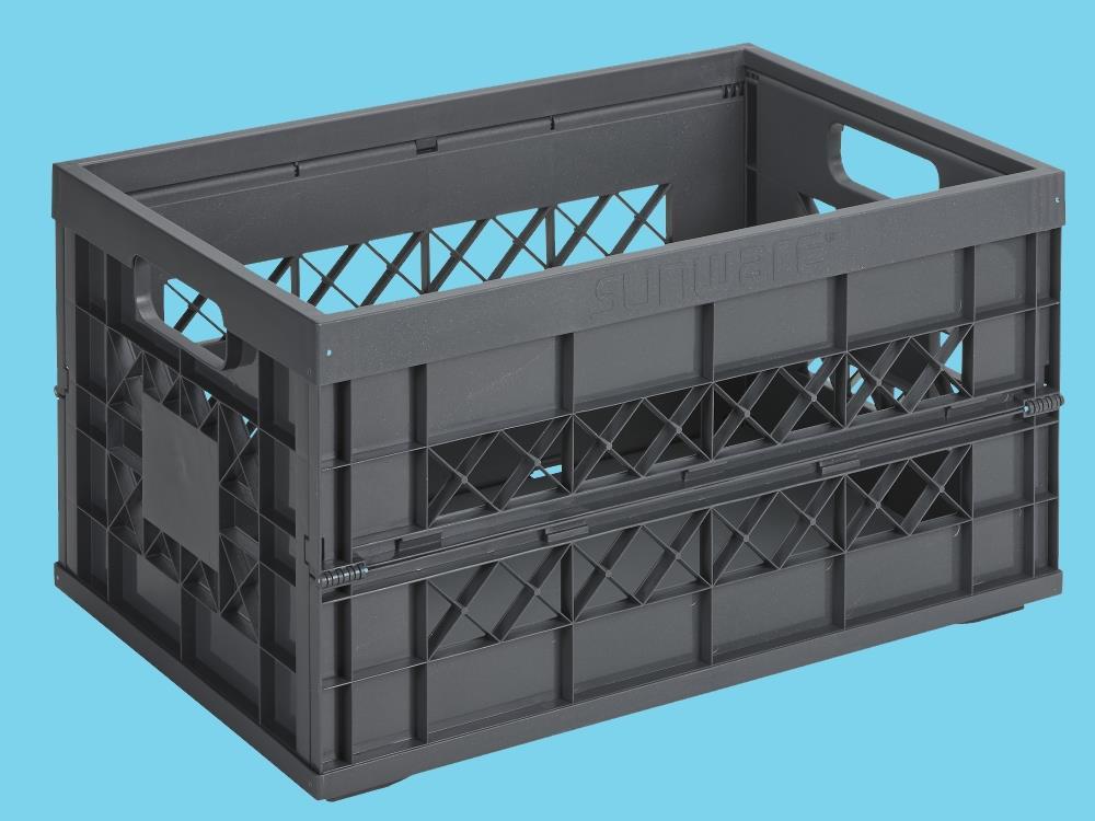 Heavy Duty Vouwkrat, antraciet 45L (6 stuks)