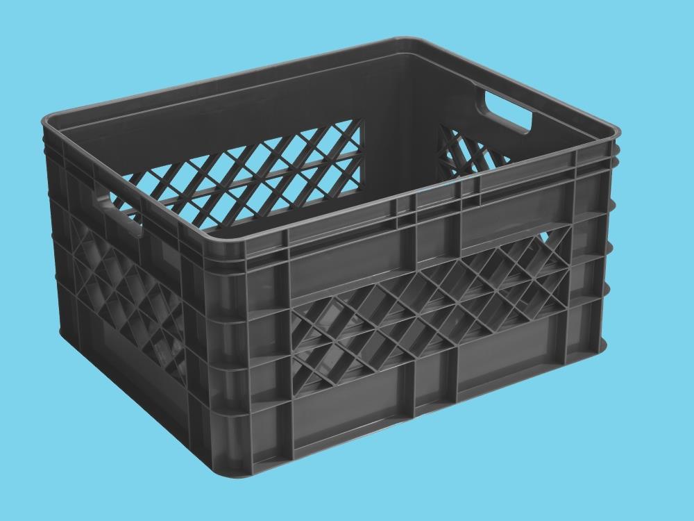 Multi crate, antraciet 52L (3 stuks)