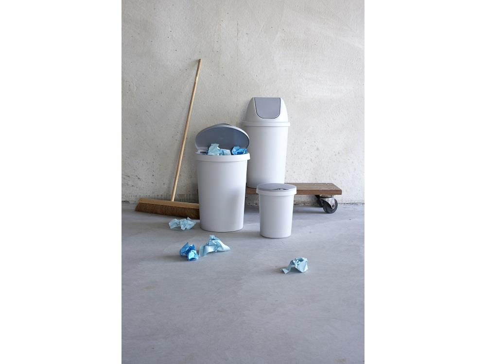 Afvalbak klep, Rond, grijs 10L (5 stuks)