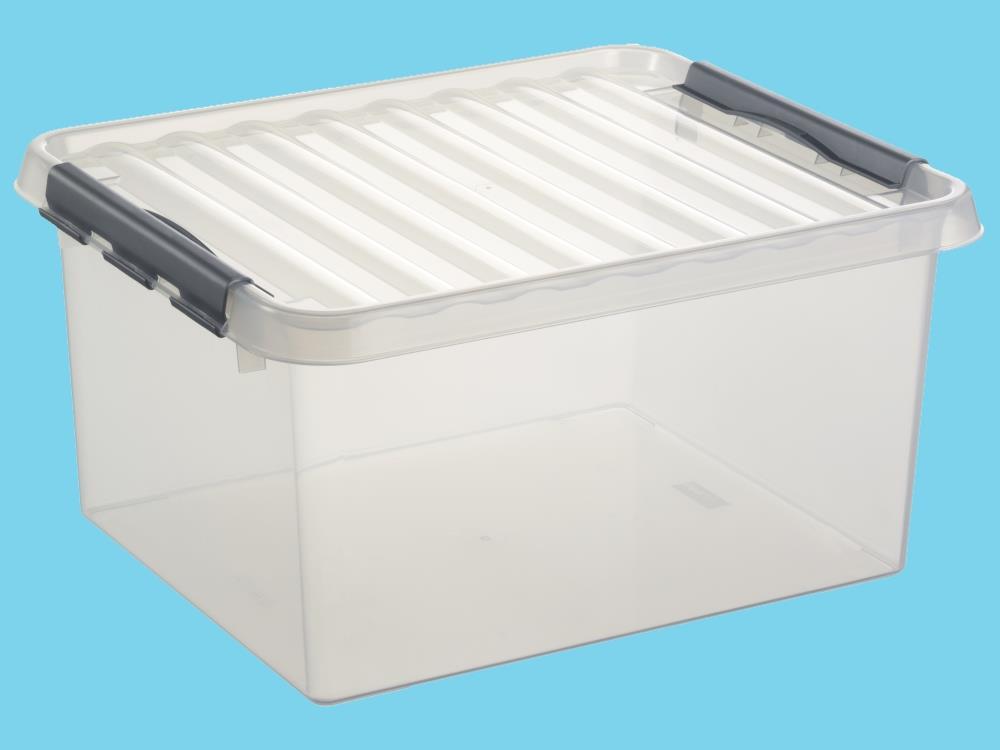 Opbergbox, transp/metal 36L (3 stuks)