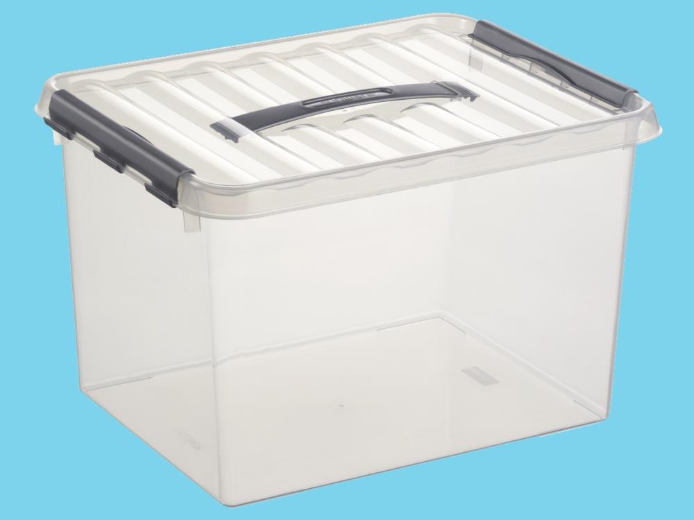 Opbergbox, transp/metal 22L (6 stuks)