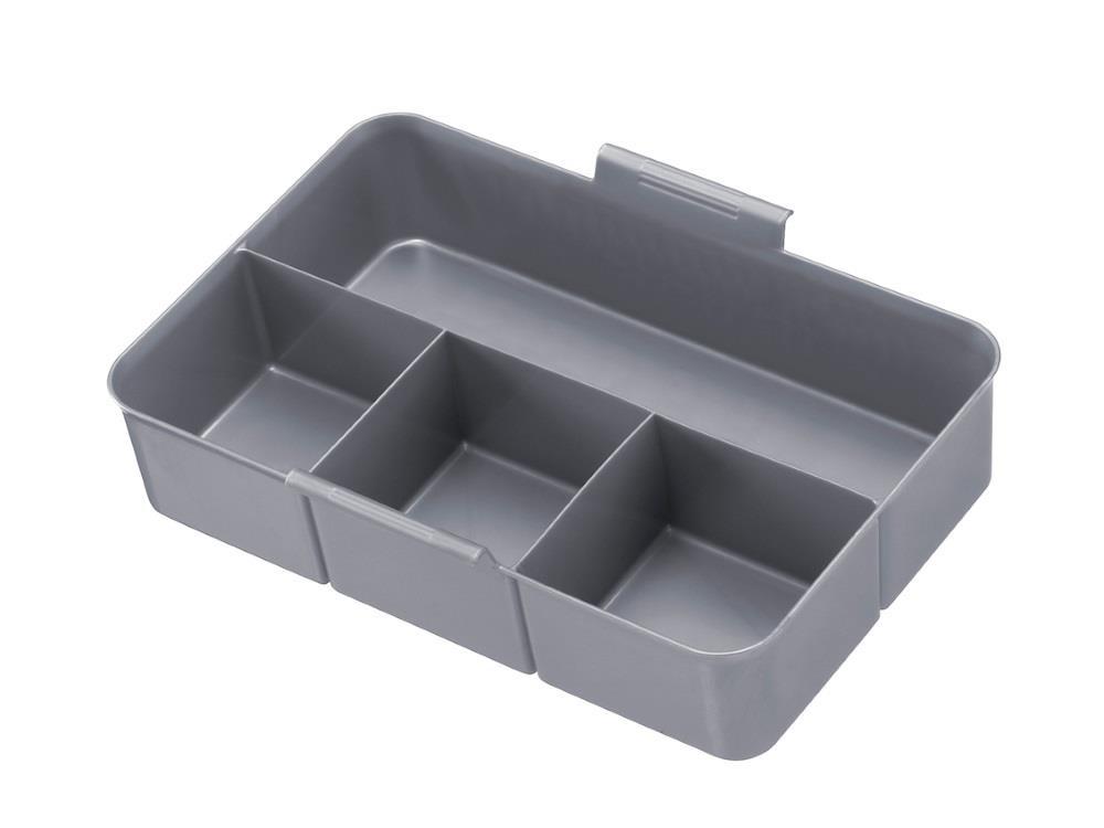 MultiBox, transp/metal 9L (4 stuks)