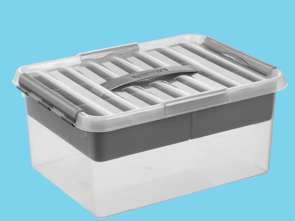 MultiBox, transp/metal 15L (4 stuks)