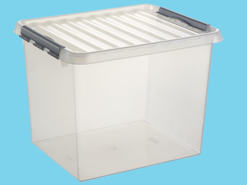 Opbergbox, transp/metal 52L (2 stuks)