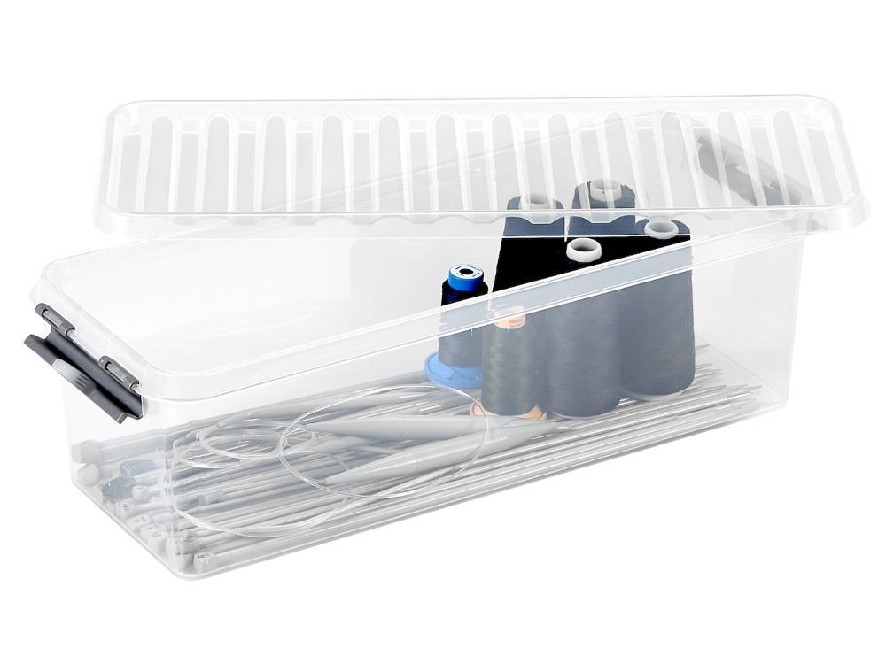 Opbergbox, transp/metal 9,5L (6 stuks)