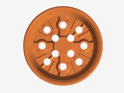 Teku pot VCG 12 C Circular wit/grijs 18564 ep