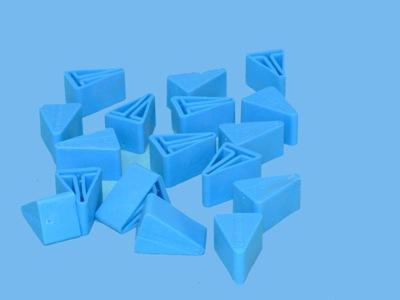 Doppen blauw voor t staanders