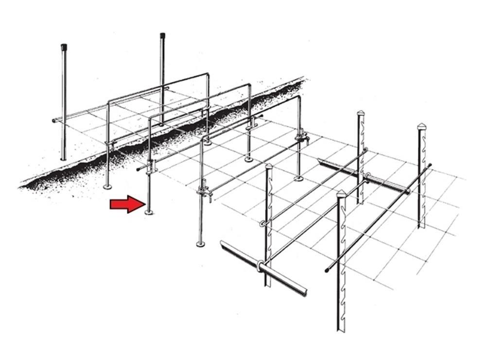 Staanders sens13x1 r4/30 120cm