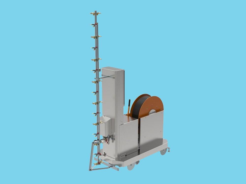 Meto spuitrobot automatische spuitwagen met touch screen