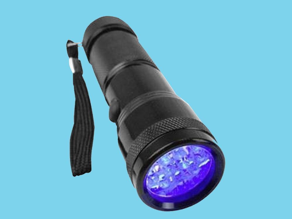 UV-LED Zaklamp Met handlus werkt op batterijen 95 g