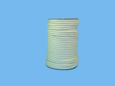 Nylon koord gevl wit 10mm 100m