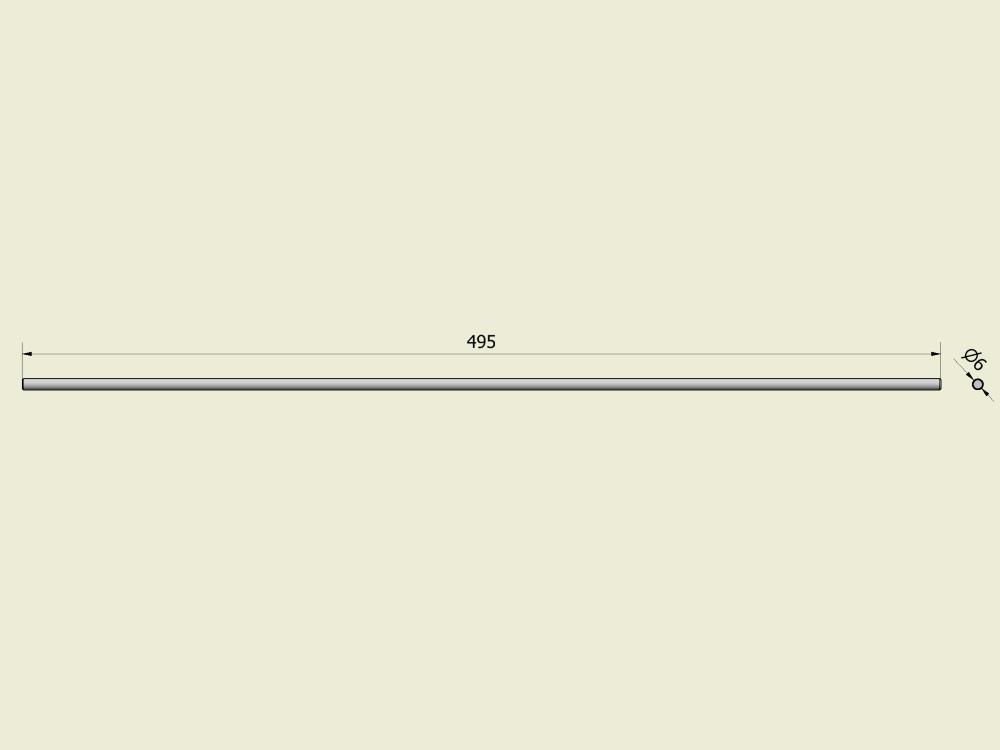 Pen bandkoppeling oogstband 490 mm